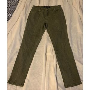 Express Jeans High Rise Ankle Legging 4/26 Green